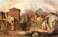 reste der villa des pompeius in albano bey rom by georg pezolt