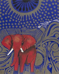 elefante rosso by fathi hassan