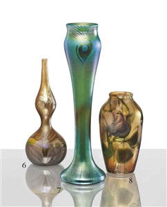 peacock vase by tiffany studios