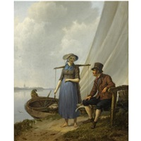 the flirtation by johannes hermanus koekkoek