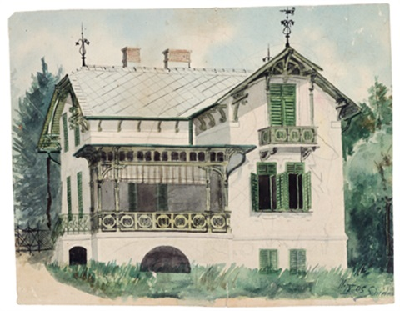 Haus mit Veranda by Egon Schiele on artnet