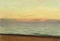 sunset over skagen by michael peter ancher
