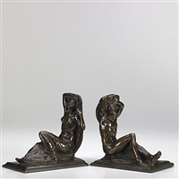 bookends (pair) by isidore konti