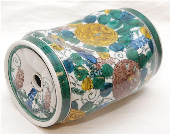 japanese imari porcelain floral pillow