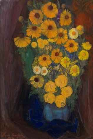 flowers by boris izrailovich anisfeld