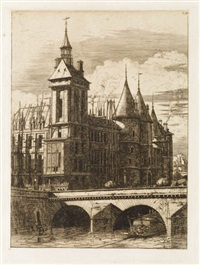 la tour de l'horloge by charles meryon