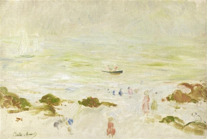 plage de la comtesse dans la brume by berthe morisot