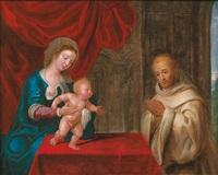 la lactation de saint bernard by pieter lisaert