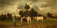 vaches et son gardien by constant troyon