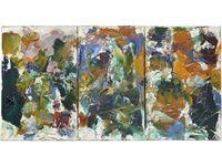 untitled (triptych) (in 3 parts) by joan mitchell