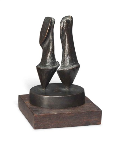 maquette for two nuns by henry moore