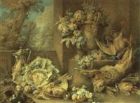 gibier, fleurs et fruits by jacques-andré portail