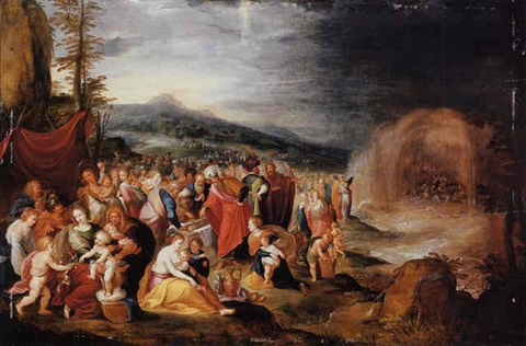 the israelites after the crossing of the red sea by hieronymus francken iii