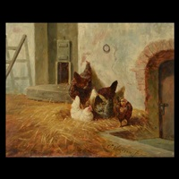 chickens in the yard by elchanon verveer
