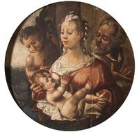 la sainte famille avec saint jean baptiste by correge