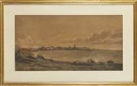la bretagne, bord de mer by auguste allongé