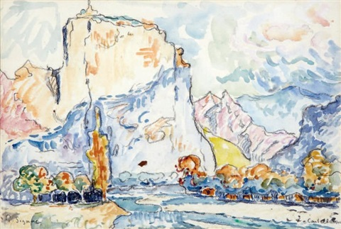 le roc castellanne by paul signac