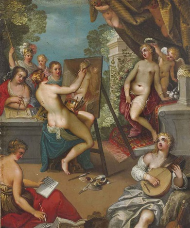 allégorie des arts by hans rottenhammer the elder