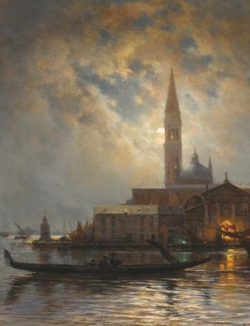 venice by moonlight by aleksei petrovich bogolyubov