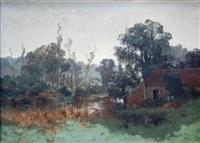 bord de rivière by leon germain pelouse
