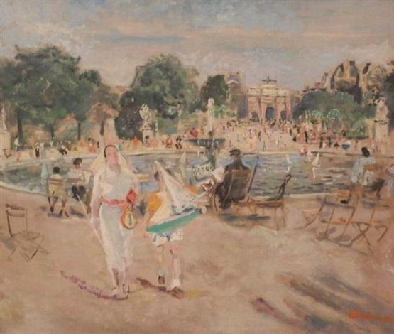 le jardin des tuileries by lucien adrion