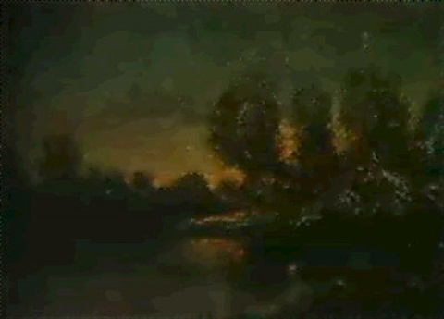 crepuscule sur letang by marcel adolphe bain