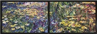 nympheas, after claude monet (pictures of magazines 2) (in 2 parts) by vik muniz