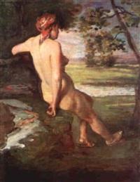 femme nue de dos by frédéric bazille