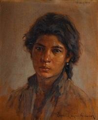 portret dziewczyny by sigismund ajdukiewicz