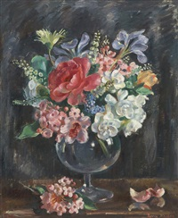 flowers in glass by nora heysen