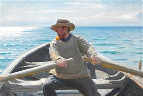 fisker der roer by michael peter ancher