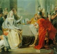 cleopatra's banquet by giovanni raggi
