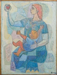 mother and child - the apple by irving amen