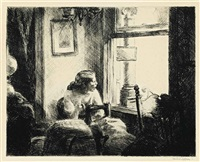 east side interior by edward hopper