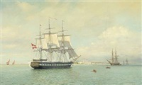 the corvette galathea's arrival to fort dansborg, tranquebar the 12th of october, 1845 by arne skottenborg frederiksen