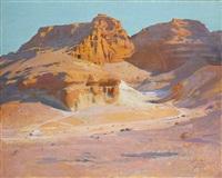 le matin à gebel el tarif (egypte) by jacques majorelle