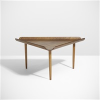 important and rare table for the organic design competition by eero saarinen and charles eames