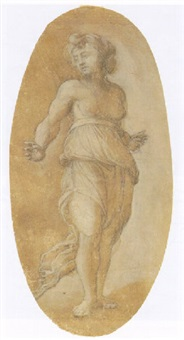 a standing female figure by amico aspertini
