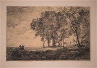 paysage d'italie by jean-baptiste-camille corot