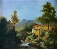 paysage du lyonnais by nicolas-victor fonville