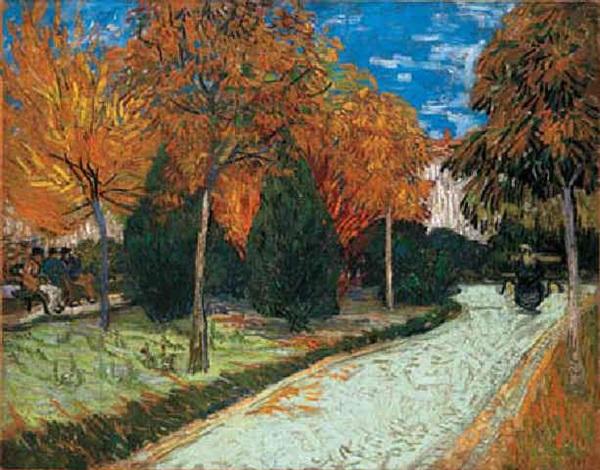Le jardin dautomne le jardin public by vincent van gogh on for Jardin a auvers van gogh