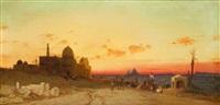 les pyramides vues des tombeaux des califes by hermann david salomon corrodi