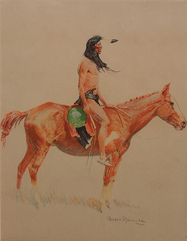 a bunch of buckskins a cheyenne buck by frederic remington