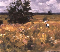 les fleurs des champs en juin by eugene markov