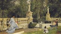 dans le parc, rome by pierre joseph antoine
