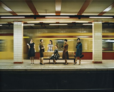 women in the s bahn still from the rape of the sabine women by eve sussman