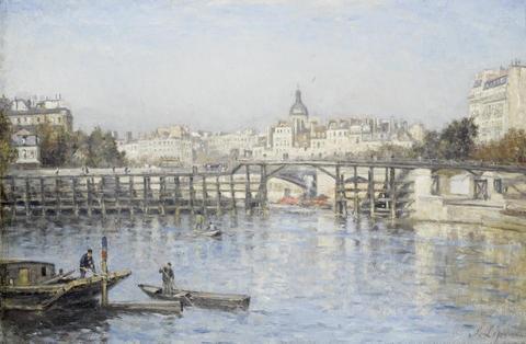 paris la seine au pont de lestacade by stanislas lépine