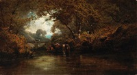 on eel river, oregon by jules louis tavernier and ransome holdredge