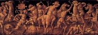 a battle of romans against barbarians by amico aspertini