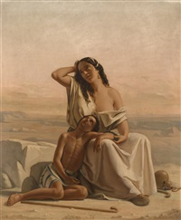 hagar und ismael in der wüste by luigi alois gillarduzzi